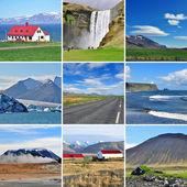 Icelandic landscape - collage — Stock Photo