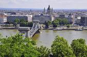 Puente de las cadenas de budapest — Foto de Stock