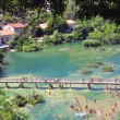 Stock Photo: Tourists in Krka