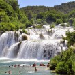 Stock Photo: Swimming in Krka