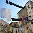 Stock Photo: Hanging linen