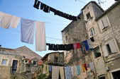Hanging linen — Stock Photo