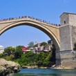 Mostar famous bridge — Stock Photo