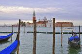 San Giorgio Maggiore and gondolas — Stock Photo