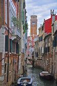 Venice small canal — Stock Photo