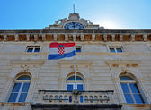 Croatian building and flag — Stockfoto