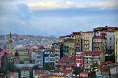 Istanbul skyline on sunset — Stock Photo