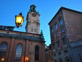 Noční stockholm — Stock fotografie