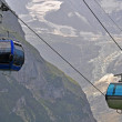 Stock Photo: Cableway in Swiss Alps