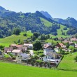 Panorama of Gruyere — Stock Photo
