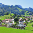 Stock Photo: Panorama of Gruyere