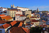 Multicolor houses in Lisbon, Portigal — Photo