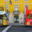 Lisbon tourist buses — Stock Photo