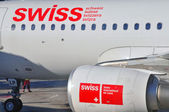 Swiss airlines — Stock Photo