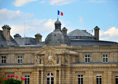 French building with a flag — Stock Photo