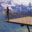 Stock Photo: Alpine viewpoint