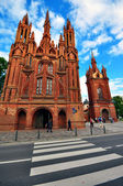 Gothic church in Vilnius — Foto Stock
