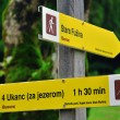 Touristic signs in Slovenia — Foto de Stock