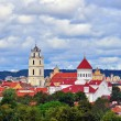 Vilnius church and bell tower — Stock Photo