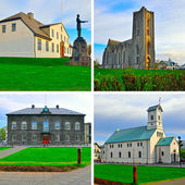 Reykjavik - collage — Stock Photo