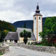 Chapel at Bohinj lake — Stock Photo