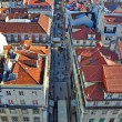 Lisbon downtown from above — Stock Photo