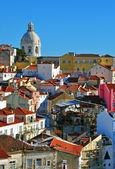 Lisbon pantheon and Alfama — Stock Photo