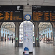 Departures board, Lisbon train station — Stock Photo