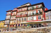 Multicolor houses of riviera in Porto — Stock Photo