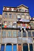 Facade of houses in Porto — Stock Photo