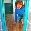 Foto de Stock  : Playing child in house