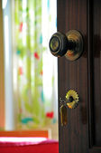 Door with keys — Stock Photo