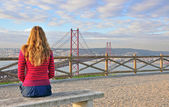 Watching big Lisbon, Portugal — Stock Photo