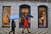 Hermes boutique in Lisbon, Portugal — Stock Photo