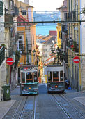 Lisbon funiculars — Stock Photo