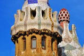 Architectural background by Gaudi, Barcelona — Stock Photo