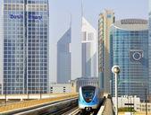 Metro train in Dubai — Stock Photo