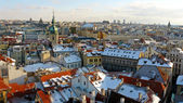 Winter panorama of Prague — Stock Photo