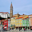 Stock Photo: Piran cityscape