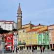 Piran cityscape — Stock Photo