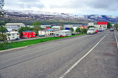 Icelandic city street — Stock Photo