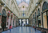 Shopping arcade in Brussels — Stock Photo