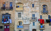 Maltese houses in Valletta  — Stockfoto