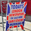 London newspapers on sale — Stock Photo #41658771