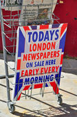 London newspapers on sale — Stock Photo