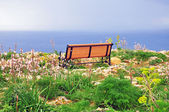 Bench at the sea — Stock Photo
