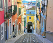 Lisbon funicular Bica — Stock Photo