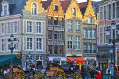 Horses and carriages of Brugge — Stock Photo