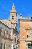 Bell tower and houses of Malta — Foto de Stock