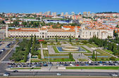 The Jeronimos Monastery top view — Stock Photo